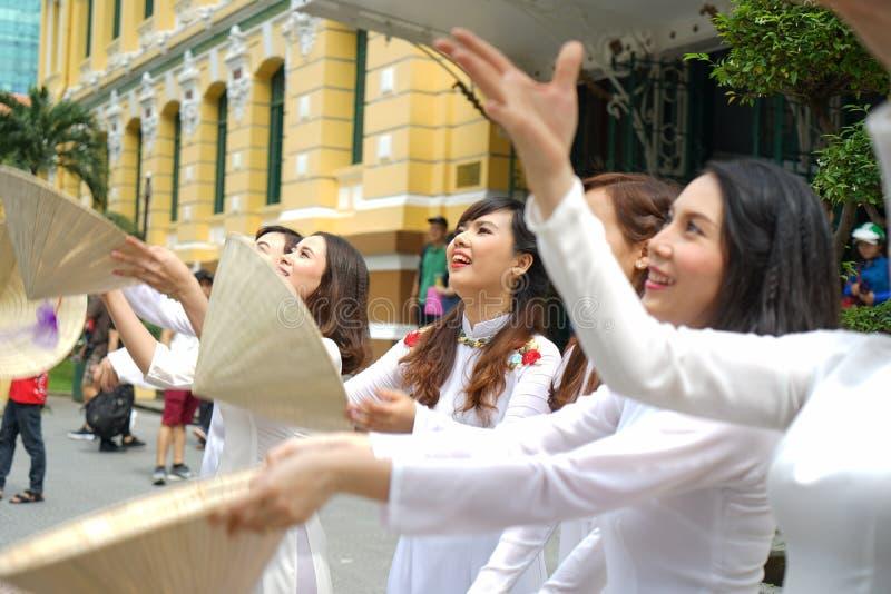 Sai Gon ono Uśmiecha się zdjęcia royalty free