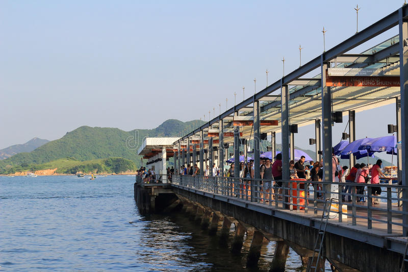 The sai kung harbour. At day time stock image