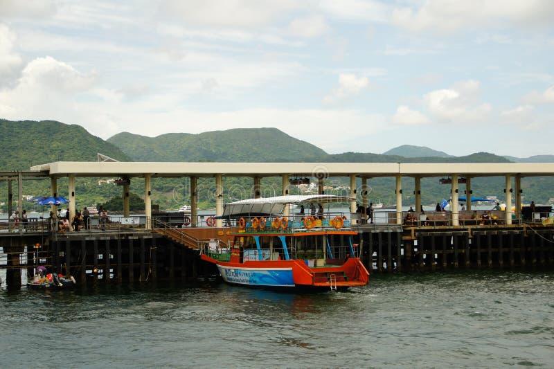 Sai Kung Pier Hong Kong arkivfoton