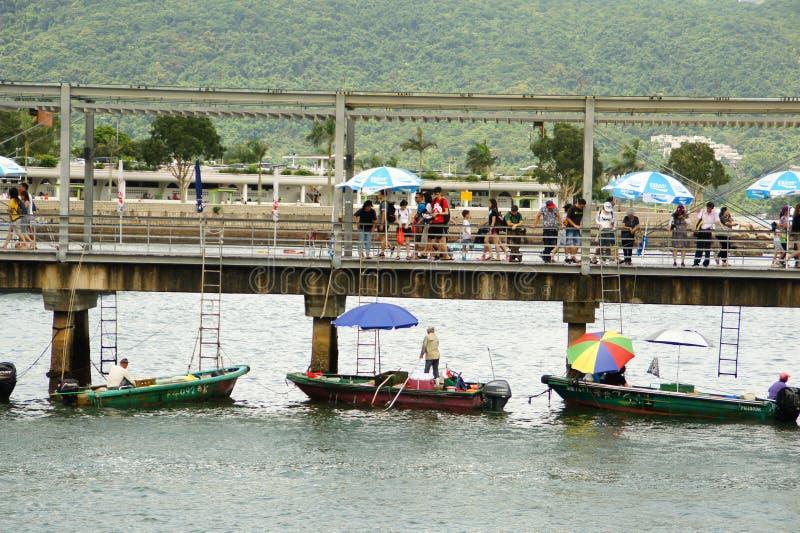 Sai Kung Pier, Hong Kong foto de stock
