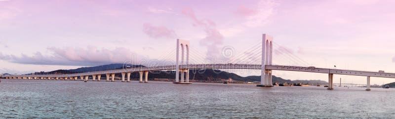 Sai Skåpbil bro i Macao arkivfoton