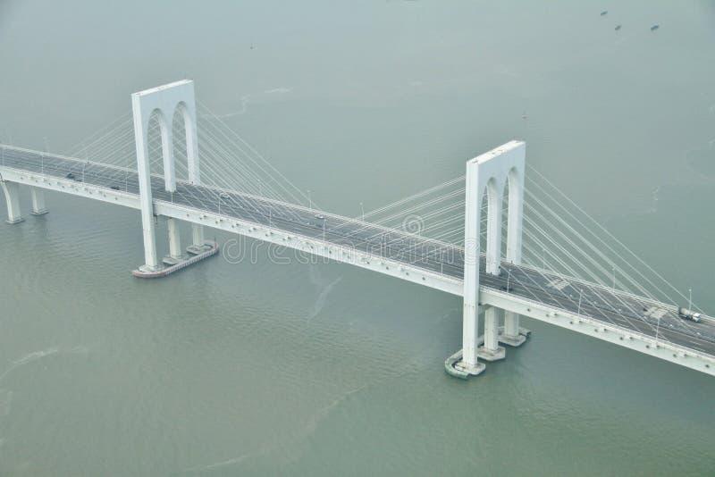 Sai Skåpbil bro i Macao royaltyfri fotografi