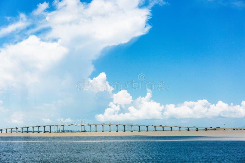 Sai Skåpbil bro i Macao royaltyfri foto