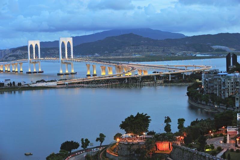 Sai Van bridge en Macao foto de archivo