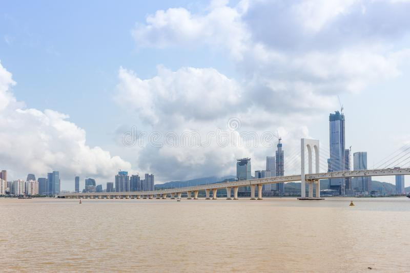 Sai Van bridge, Macao photographie stock libre de droits