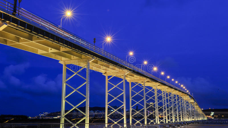 Sai Van bridge, Macau foto de archivo