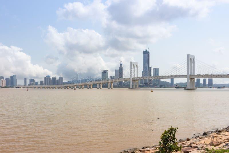 Sai Van bridge, Macau imagenes de archivo