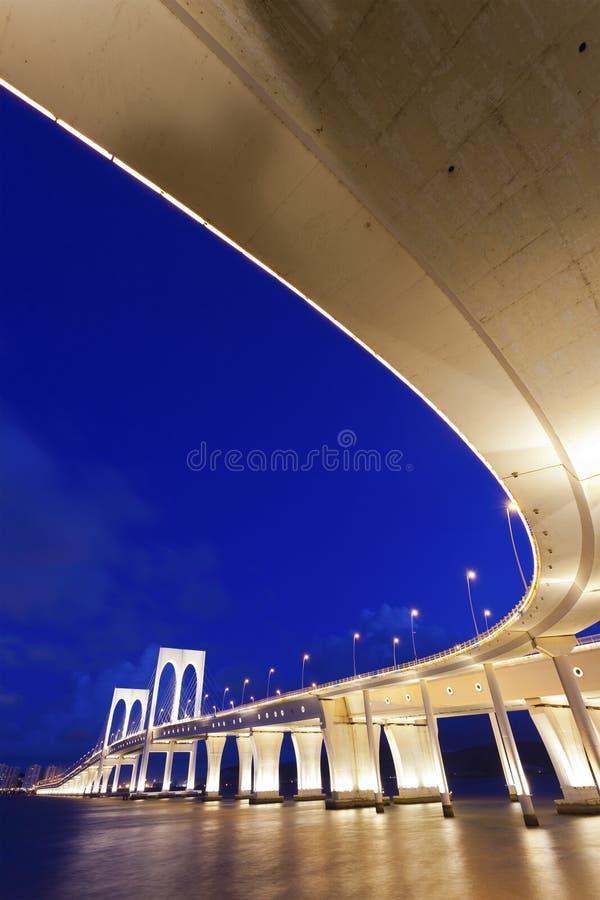 Download Sai Van Bridge In Macau At Night Stock Photo - Image: 25850760