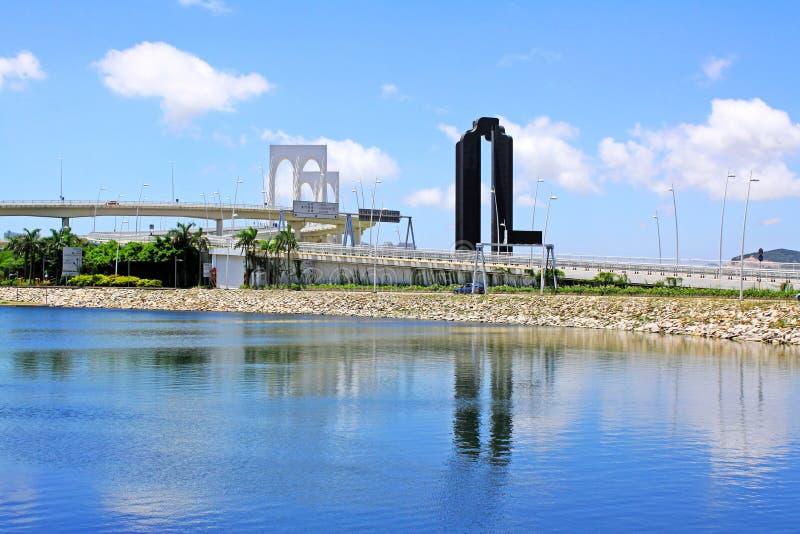 Sai Van Przerzucający most, Macau, Chiny obraz royalty free