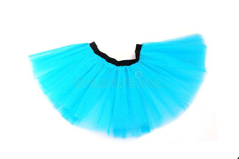 Saia azul do tutu fotografia de stock royalty free