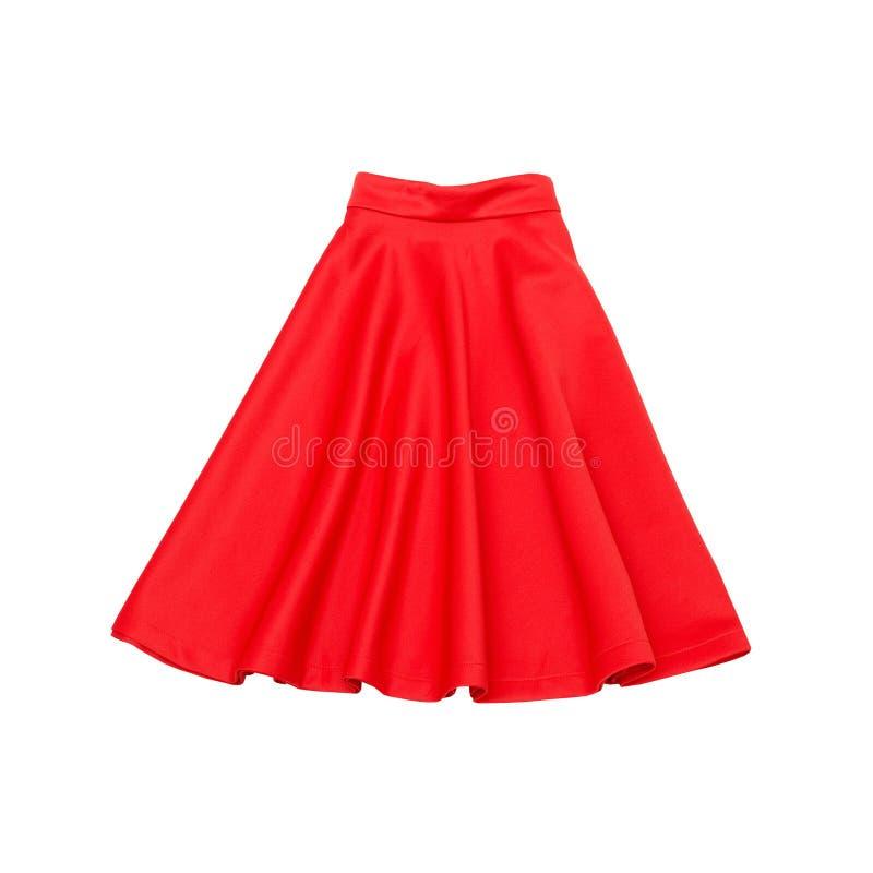 Saia vermelha conceito elegante Isolado Fundo branco imagens de stock royalty free