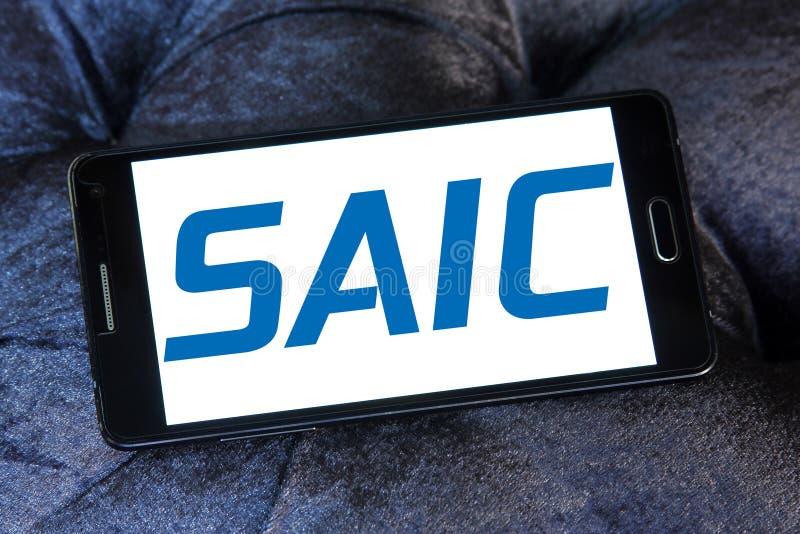 SAIC Vetenskap Applikationer Internationell Korporation logo royaltyfri bild