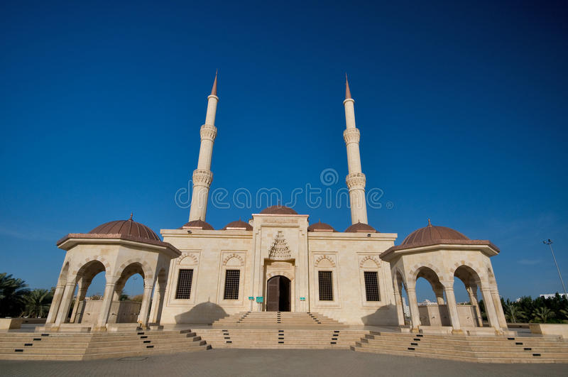 Said bin Taimur Mosque. This mosque, located in Al Khuwair and well known to the locals, is the Said Bin Taimur Mosque. it's the only Turkish style mosque stock photo