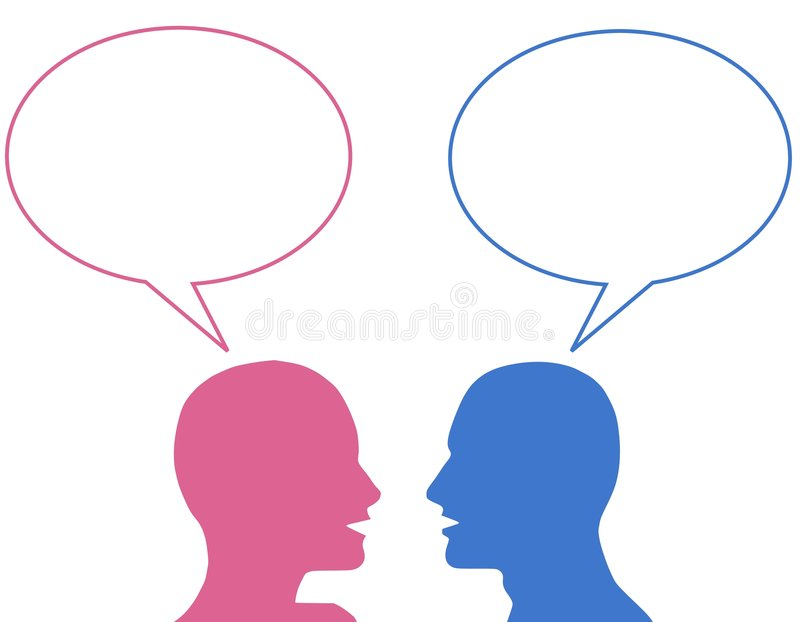 Download He Said She Said Bubbles stock illustration. Illustration of conversing - 5576470
