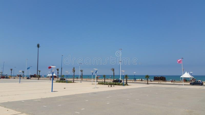 Saidia strand, Marocko arkivbild