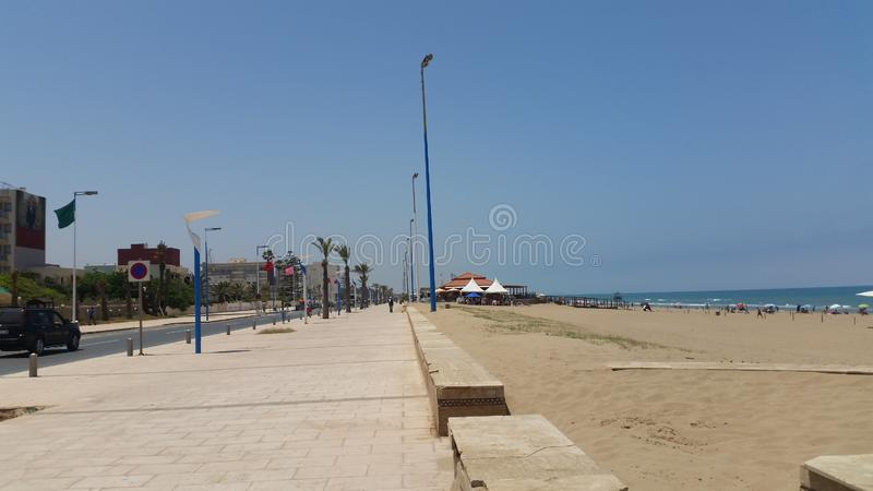 Saidia strand, Marocko royaltyfria bilder