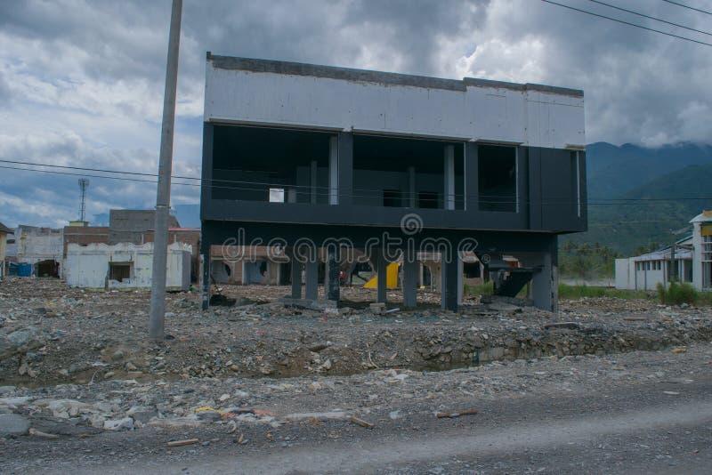 Saido sobre o tsunami Palu o 28 de setembro de 2018 imagens de stock royalty free