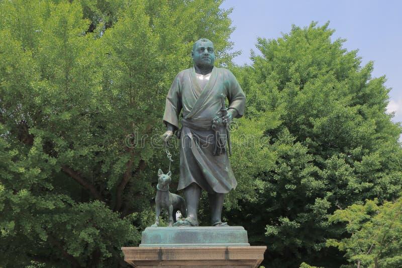 Saigo Takamori stature Ueno Tokyo. Last samurai, Saigo Takamori stature in Ueno Park Tokyo stock photos