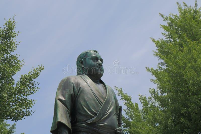 Saigo Takamori stature Ueno Tokyo. Last samurai, Saigo Takamori stature in Ueno Park Tokyo royalty free stock photo