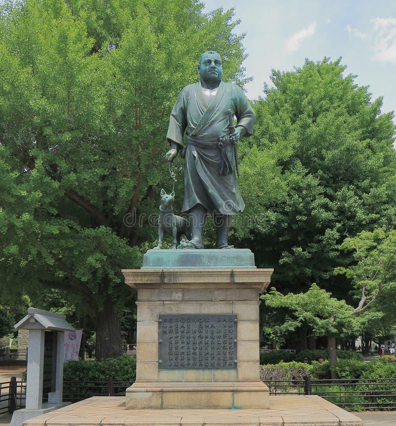 Saigo Takamori stature Ueno Tokyo. Last samurai, Saigo Takamori stature in Ueno Park Tokyo royalty free stock photos