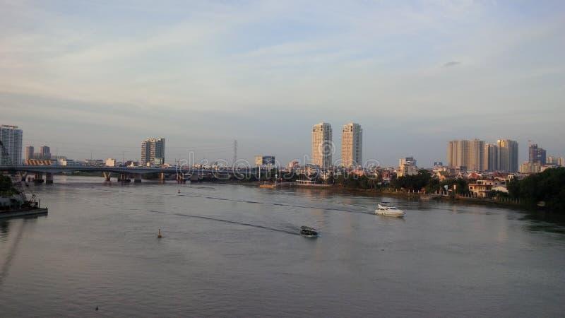 Saigon flod arkivbild