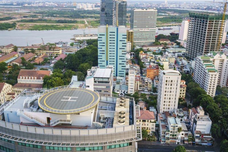 Saigon miasto, Wietnam zdjęcie royalty free