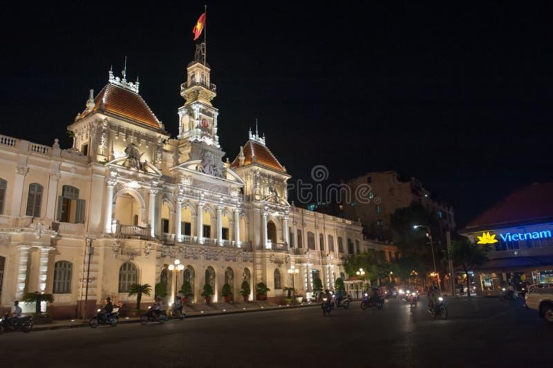 Saigon nocą obraz royalty free