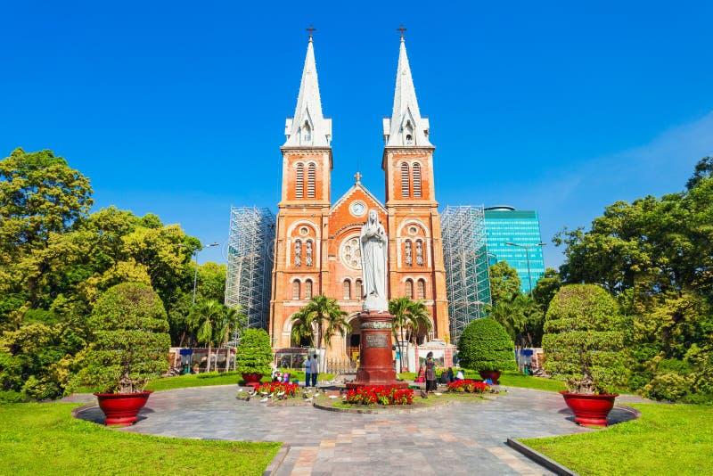 Saigon Notre Dame Cathedral Basilica arkivbilder