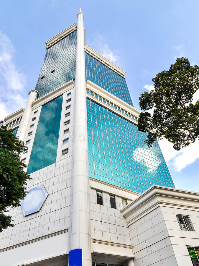 The Saigon Trade Center. Building, it was the tallest building in Vietnam from 1997 until 2010, when it was surpassed by the Bitexco Financial Tower royalty free stock photo