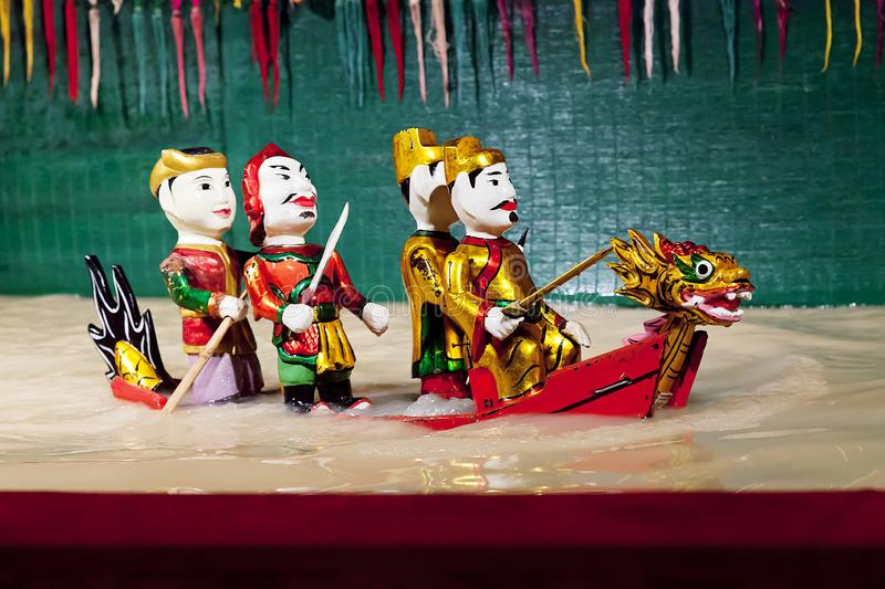 SAIGON, VIETNAM - JANUARY 05, 2015 - Traditional water puppet theater royalty free stock photo