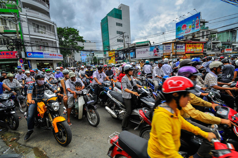 Saigon, Vietnam - June 15: Road Traffic on June 15, 2011 in Saigon (Ho Chi Minh City) stock images