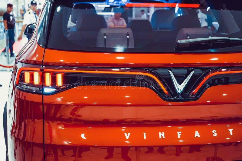 SAIGON / VIETNAM, 27 NOVEMBER 2018 - VinFast Lux AS2.0 SUV car showcased at Vinhome Central Park.  stock images