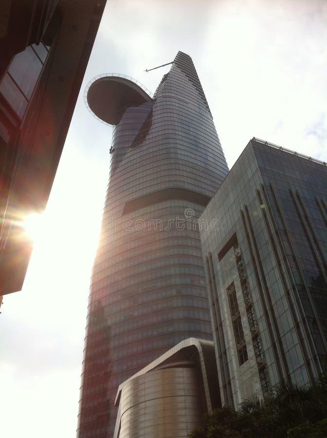 Saigons financiële toren royalty-vrije stock afbeeldingen