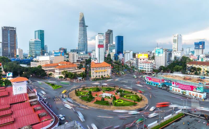 Saigonschoonheid p.m. binnen de stad in stock afbeelding