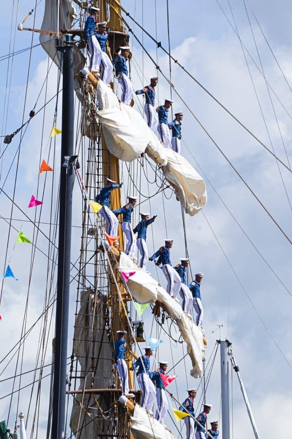 Download Sail Amsterdam 2010 - The Sail-in Parade Editorial Photo - Image of sail, dewaruci: 15701221
