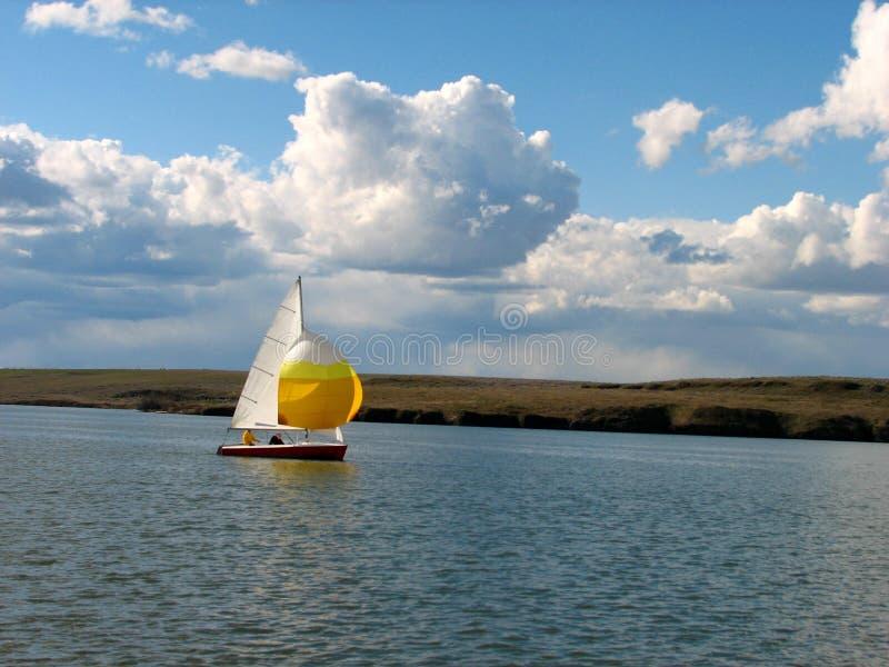 Sail Boat. Lake Sailing stock image