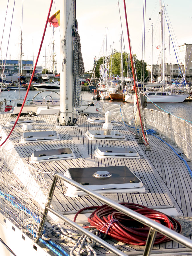 Free Sail Boat Deck Stock Images - 6117974