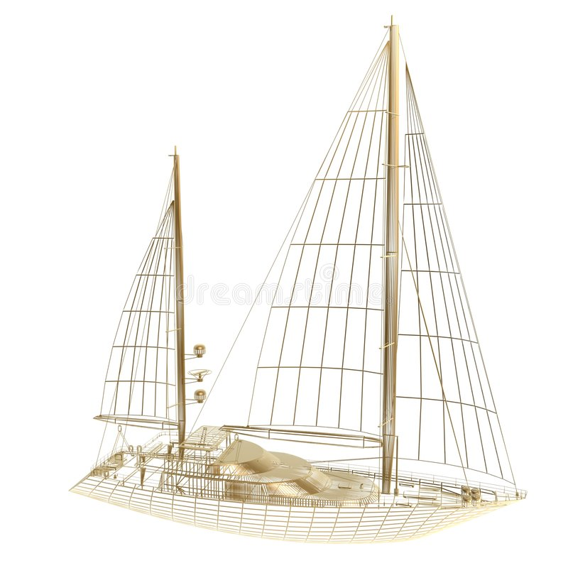 Sail boat frame vector illustration