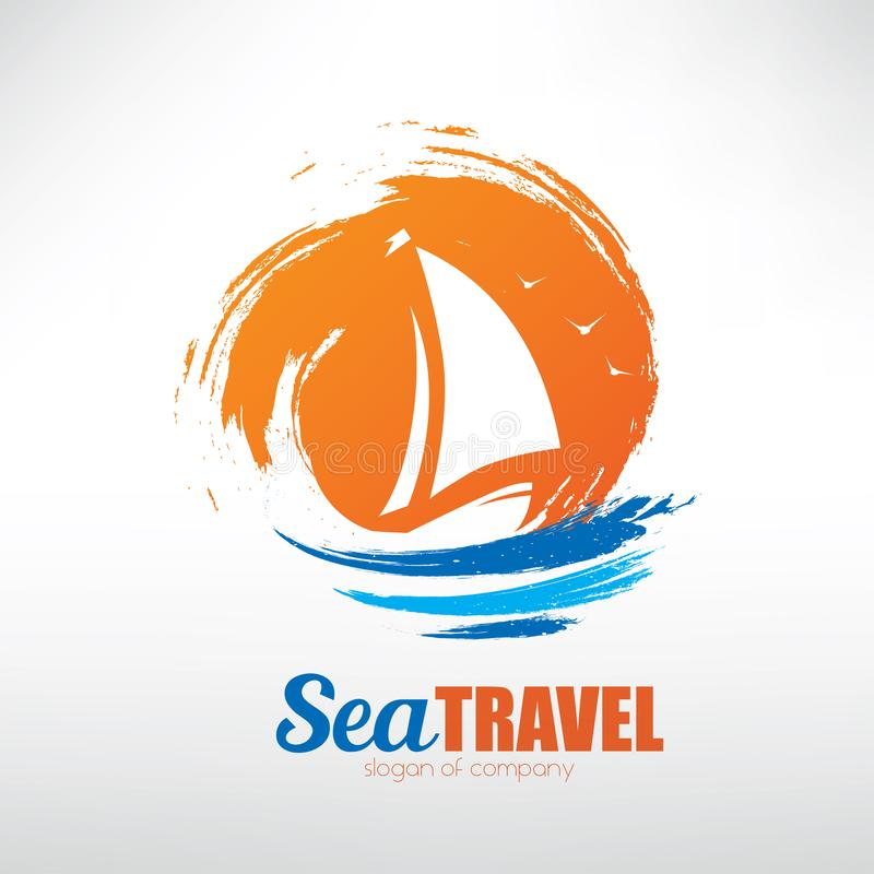 Free Sail Boat On Seascape Background Stock Photos - 130368963