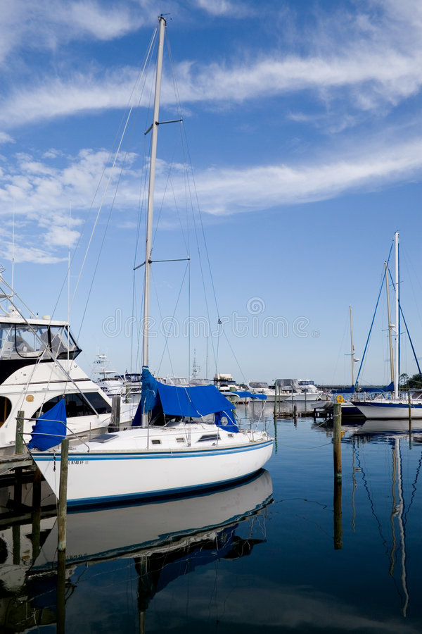 Download Sail Boat At Rest stock image. Image of travel, rest, club - 5429799