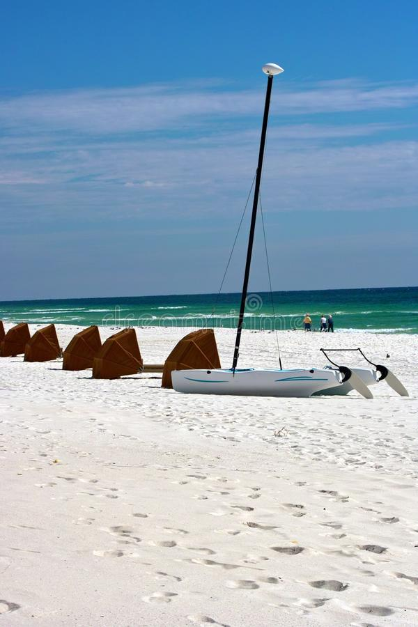 Sail boat in the Sand stock image