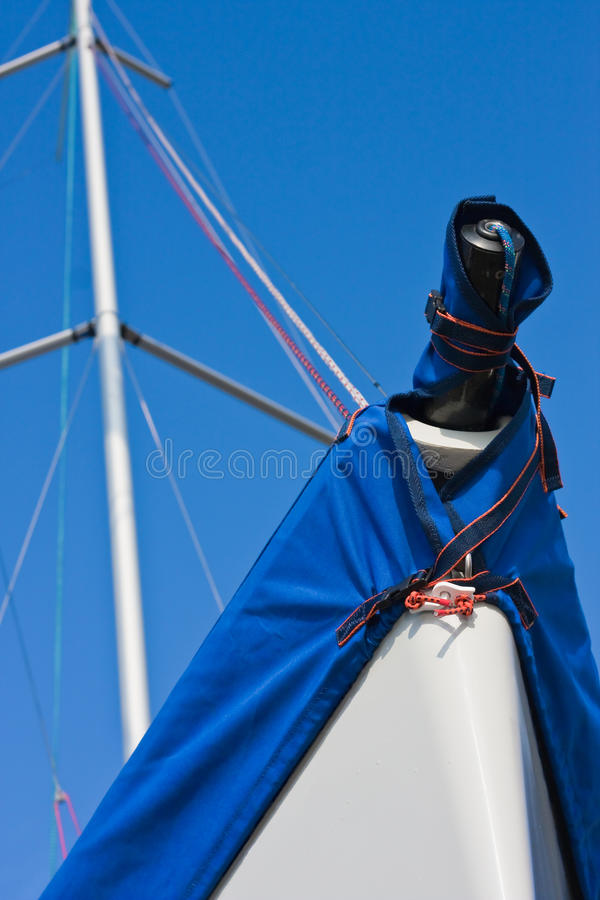 Sail boat and sunny sky (2) stock images