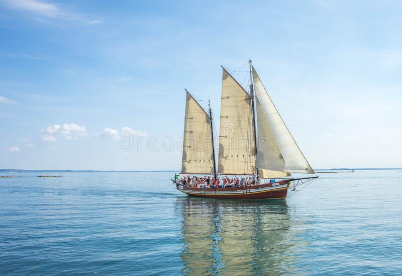 Sail Boat in Water royalty free stock photos