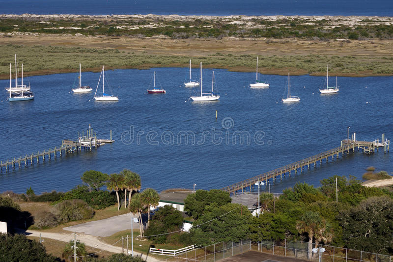 Sail Boats in the bay royalty free stock photo