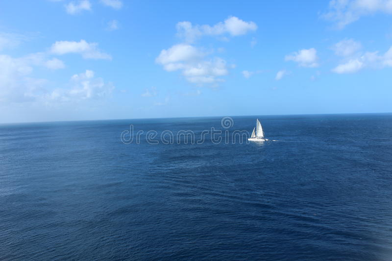 Sail boats in the Caribbean royalty free stock photography