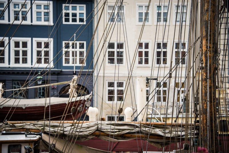 Sail boats in Copenhagen royalty free stock photo