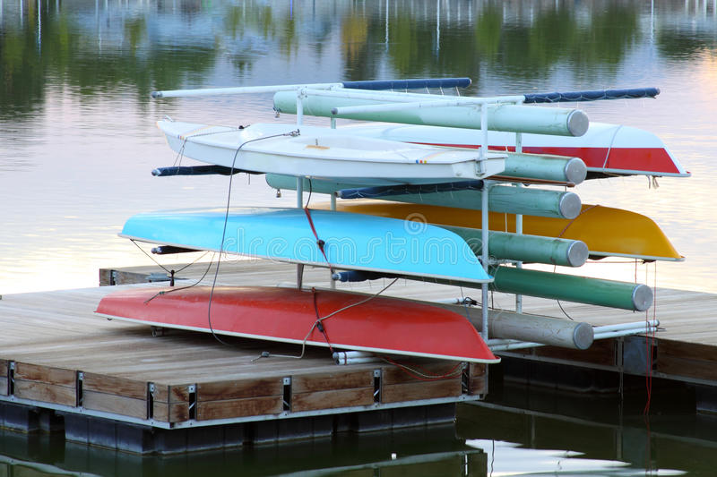Download Sail Boats Stack Up On Dock Stock Image - Image of lake, reflection: 10992431