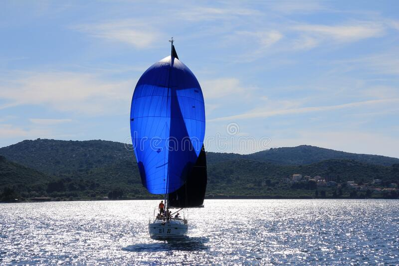 Sail, Dinghy Sailing, Water Transportation, Water royalty free stock photo