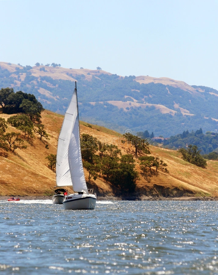 Download Sail on the lake stock photo. Image of scenic, nature, countryside - 155700