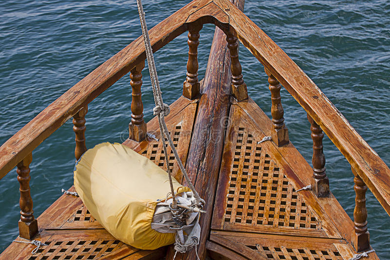 Sail ready on the deck of an old fashioned yacht stock photos